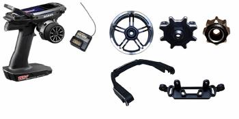 Sanwa M17 Radio + RX-491 Receiver & Preinstalled Battery + Tuning Aluminum Complete Set