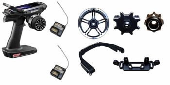 Sanwa M17 Radio + 2x RX-491 Receiver & Preinstalled Battery + Tuning Aluminum Complete Set