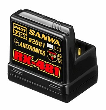 Sanwa RX-481 (2.4GHz 4-Channel FHSS-4) Receiver w/Internal Antenna