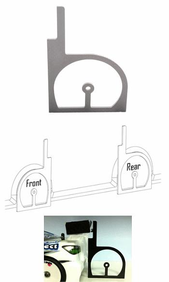 Schumacher Touring Car Wheel Arch Cutting Jig