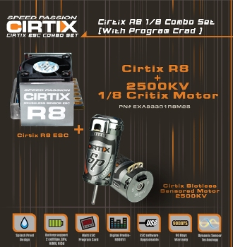 Speedpassion Cirtix R8 ESC combo set with 2500KV (with program card)