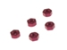 Aluminum Flat Nut M3 Red (5pcs)