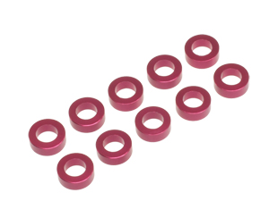 T.O.P. Racing 3mmx2.0t Collar Red (10pcs)
