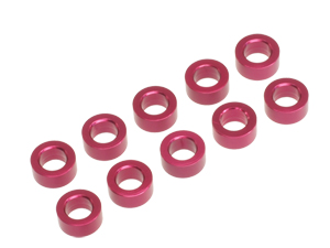 T.O.P. Racing 3mmx2.5t Collar Red (10pcs)