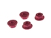 M4 Alum.Serrated Wheel Nut Red (4pcs)