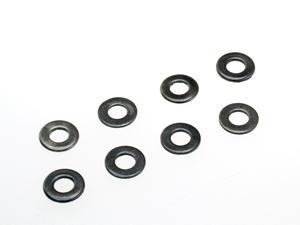 T.O.P. Racing Steel Flat Washer Black (10pcs)