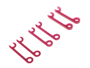 T.O.P. Racing Rebel - Upper Hinge Pin Holder Spacer Set (0.5 1 & 2mm each 2pcs)