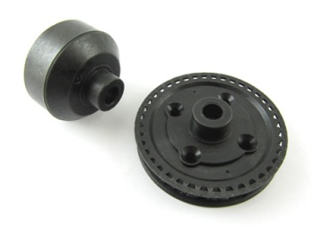 T.O.P. Racing 40T Gear Diff. Cover Pulley & Case