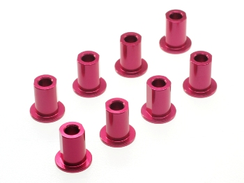 T.O.P. Racing Aluminium Suspension Mount Insert (Red) (8pcs)