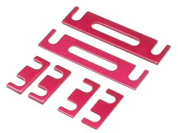 T.O.P. Racing Height Spacer Set 0.5 & 1.0mm Red