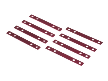 T.O.P. Racing Wide Height Spacer Set 0.5 & 1.0mm Red (each 4pcs)