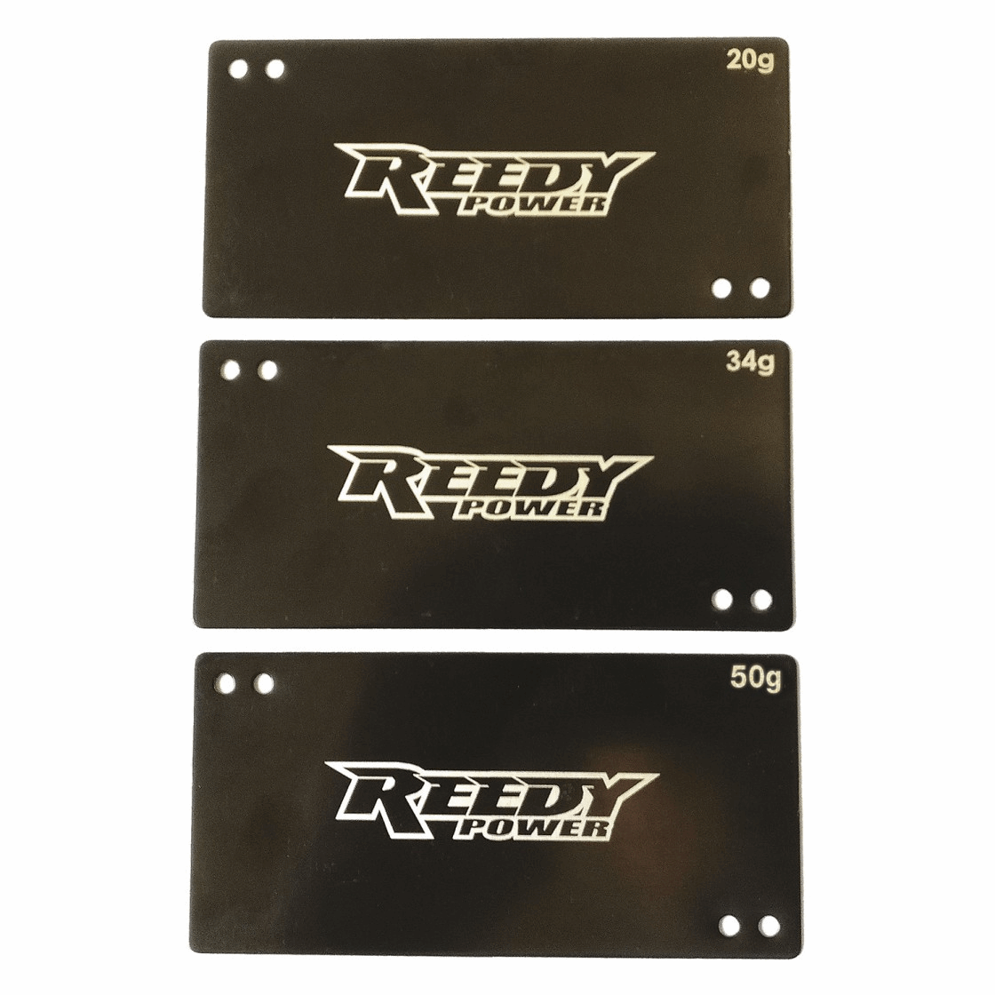 Reedy Shorty Battery Weight Set, 20g, 34g, 50g