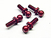 Team CRC Anodized 4-40 Ball Studs (4)