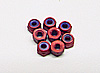Team CRC 2-56 mini locknuts (red) (8)