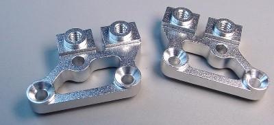Team CRC Aluminum 0 degree Upper A-arm mnts - Silver