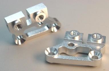Team CRC Aluminum 5 degree Upper A-arm mnts - Silver