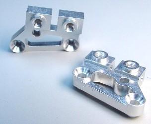 Team CRC Aluminum 10 degree Upper A-arm mnts - Silver
