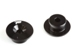 ALUMINIUM FRONT BULKHEAD BUTTON (2pcs)(BLACK)