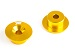 ALUMINIUM FRONT BULKHEAD BUTTON (2pcs)(GOLD)
