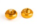 ALUMINIUM THUMB NUT (2pcs)(GOLD)
