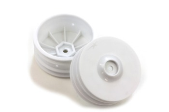 Team Durango WHEEL RIM FRONT: 14mm HEX WHITE (2pcs)