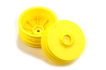 Team Durango WHEEL RIM FRONT: 14mm HEX YELLOW (2pcs)
