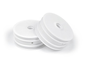Team Durango 2WD WHEEL RIM FRONT: WHITE (2pcs)