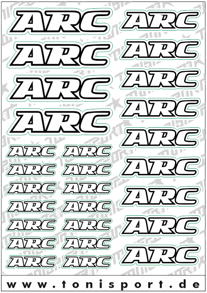 ToniSport ARC Decal Sheet - White/Black
