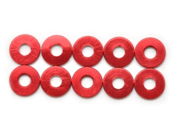 ALUMINUM WASHER 3x8x0.5mm (RED/10pcs)