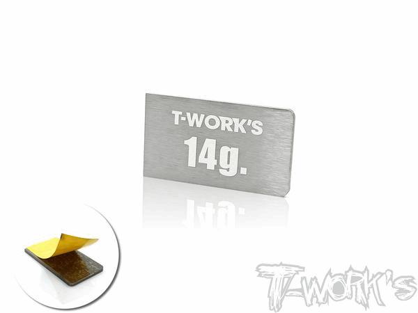 T-Work/s Adhesive Type 14g Tungsten Balance Weight ( For Xray T4-2018/19/20 & Yokomo BD9/10)