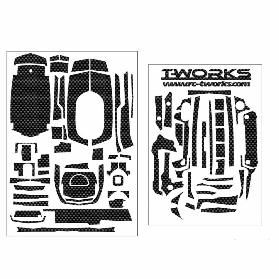 T-Works Shiny Graphite Sticker for Sanwa M17