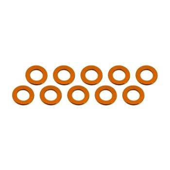 Ultimate Racing Aluminum Shim 3x6x0.5mm (10pcs·Orange)