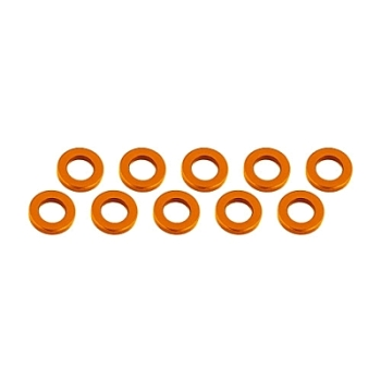 Ultimate Racing Aluminum Shim 3x6x2mm (10pcs-Orange)