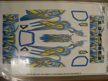 Upgrade RC Team Losi 8 Flame 2 - Blue/Yellow