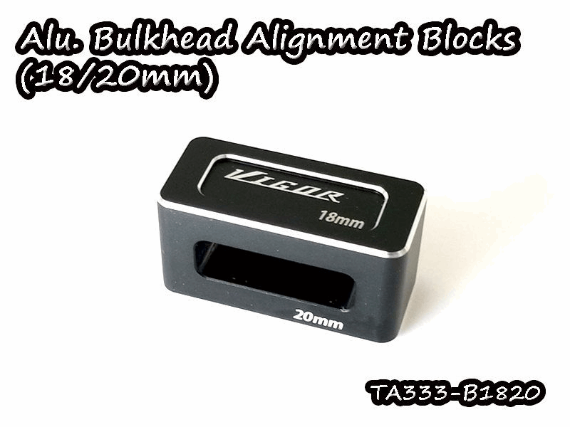 Vigor Aluminum Bulkhead Alignment Blocks (18/20mm)