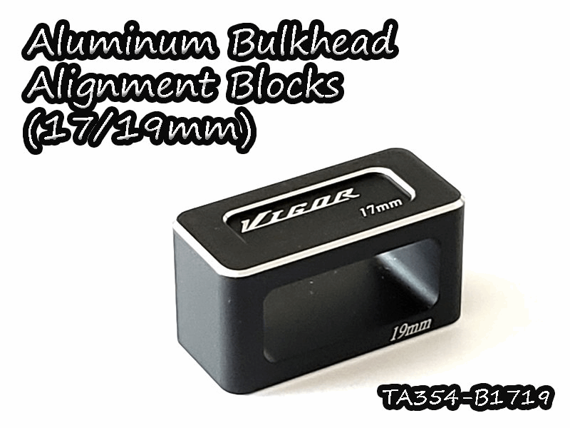 Vigor Aluminum Bulkhead Alignment Blocks (17/19mm)