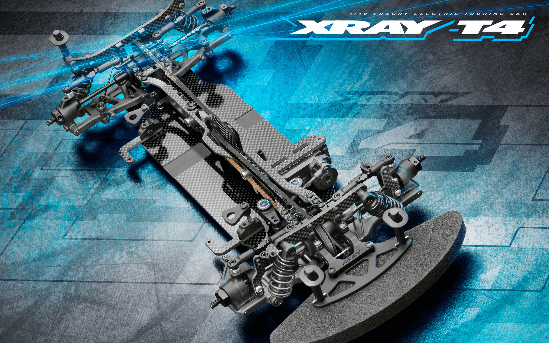 XRAY T4 2021 Specs 1/10 Luxury Electric Touring Car - Graphite Edition