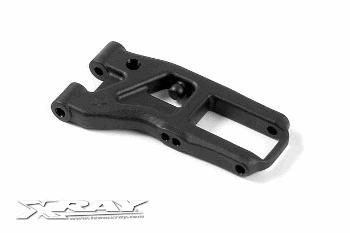 XRAY Composite Front Susp. Arm 2-Hole - Hard - Rubber-Spec