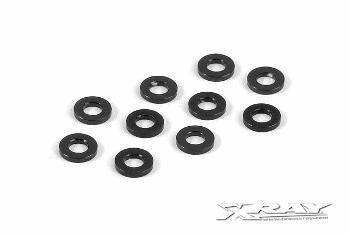 XRAY Alu Shim 3x6x1.0mm - Black (10)