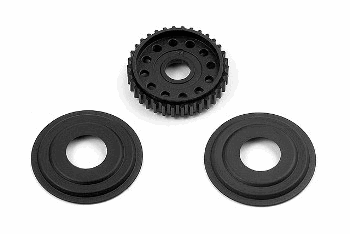 XRAY T2 008 Diff Pulley 34T with Labyrinth Dust Covers