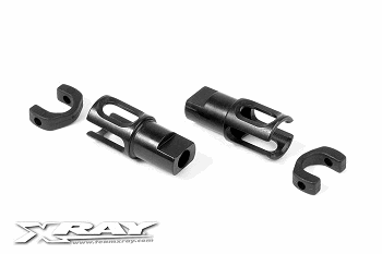 XRAY Solid Axle Driveshaft Adapter - HUDY Spring Steel (2)