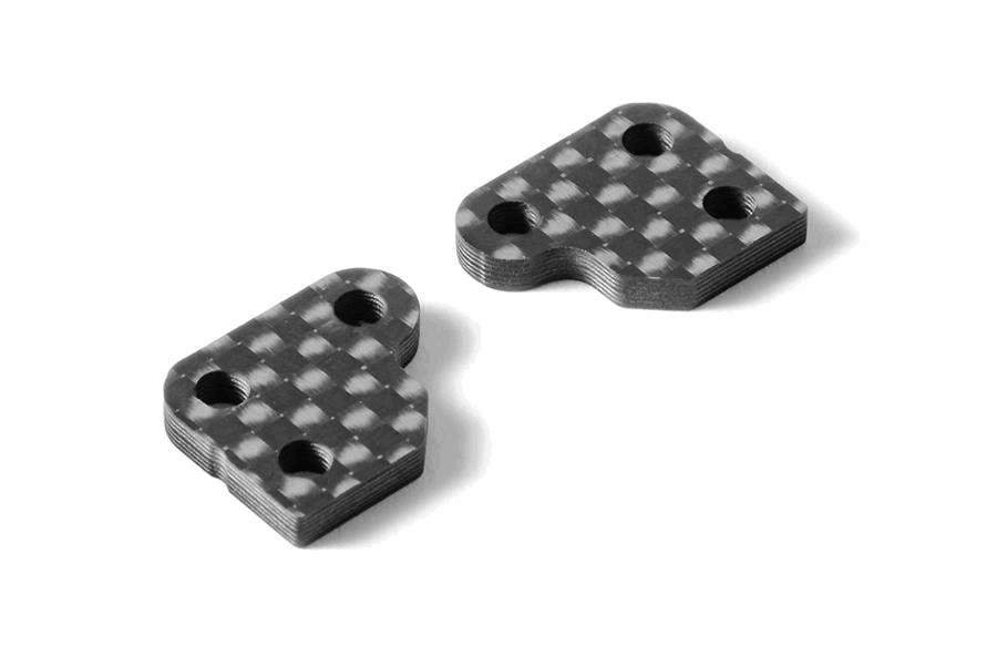 XRAY XB2 Graphite Extension For Steering Block (2pcs) - 1 Slot