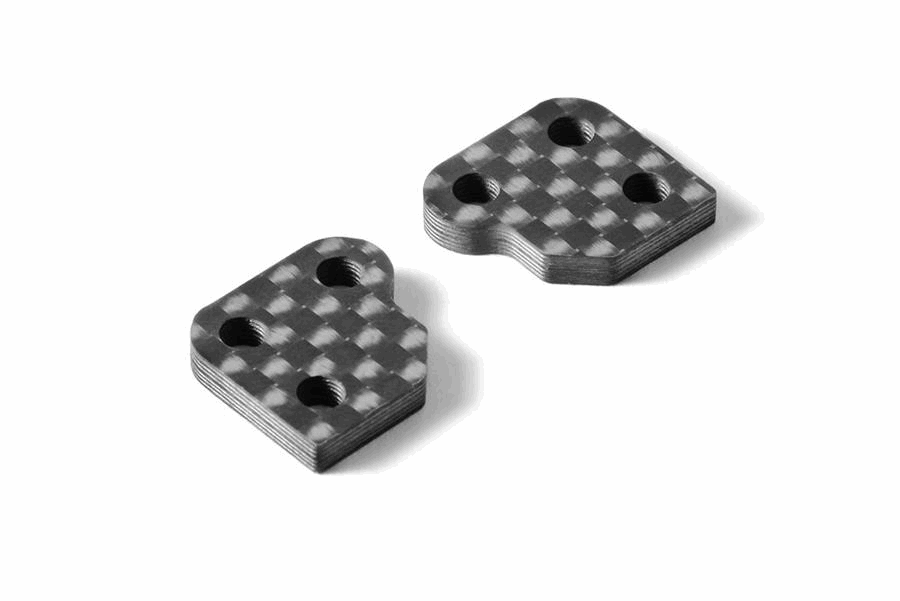 XRAY XB2 Graphite Extension for Steering Block 2.5mm - 0 Slot