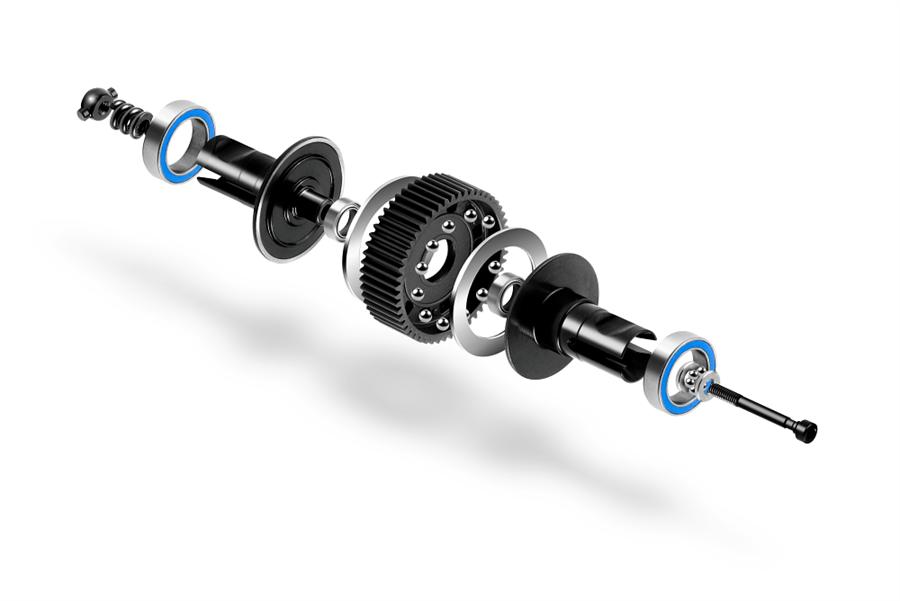XRAY XB2 Ball Adjustable Differential - LCG - Set - Hudy Spring Steel