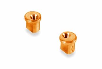XRAY Alu Eccentric Bushing 1.0mm - Orange (2)