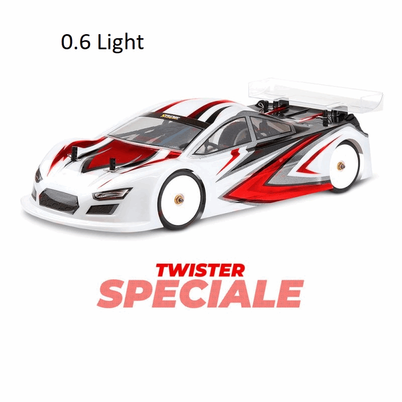 Xtreme 1/10 Twister SPECIALE Touring Car Clear Body 0.6mm (190mm)