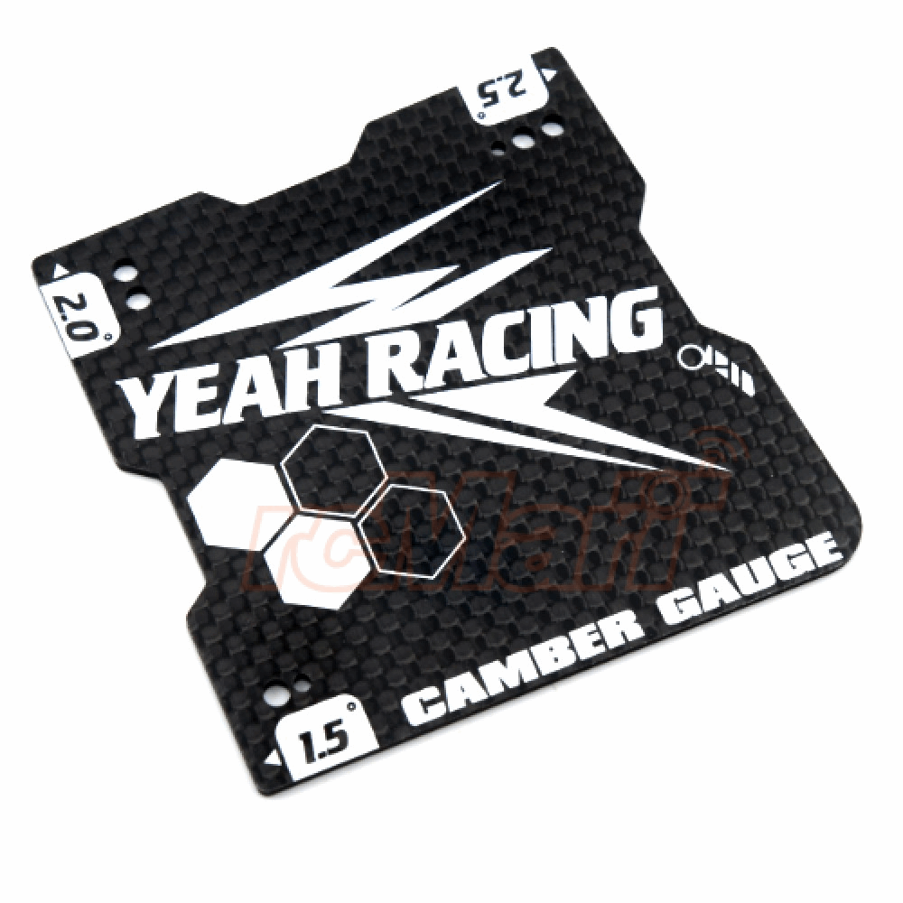 Yeah Racing Graphite Lightweight Camber Gauge 1.5, 2 And 2.5 Deg For 1/10 Touring Car M Chassis