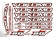 Decal Sheet Onroad - Red